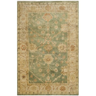 Oushak Medium Blue / Green Rug