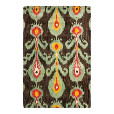 <strong>Safavieh</strong> Ikat Creme/Brown Rug