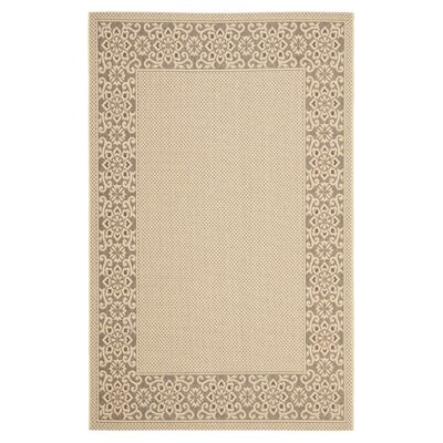 <strong>Safavieh</strong> Courtyard Cream/Light Chocolate Floral Rug