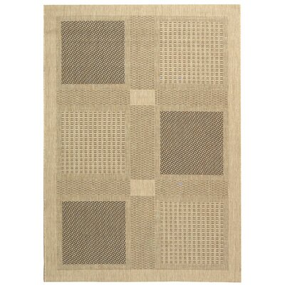 Safavieh Courtyard Sand/Black Rug