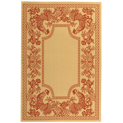 Safavieh Courtyard Natural/Red Rug