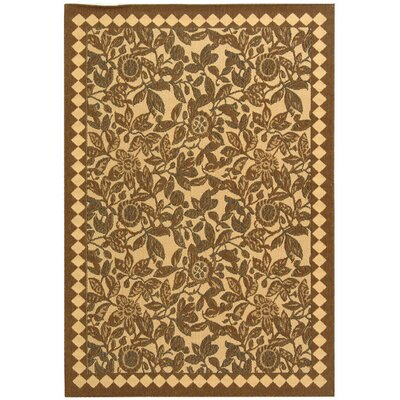 Safavieh Courtyard Natural Brown/Black Rug