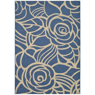 Safavieh Courtyard Blue/Beige Outdoor Rug