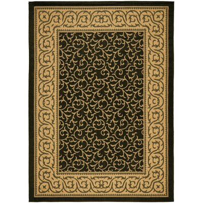 Courtyard Black/Natural Rug