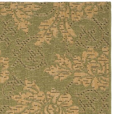 Safavieh Courtyard Green/Natural Rug