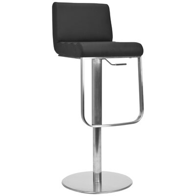 Safavieh Liam Leather Barstool in Black