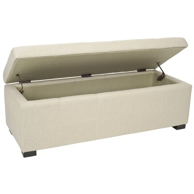safavieh beige bedroom storage ottoman reviews wayfair