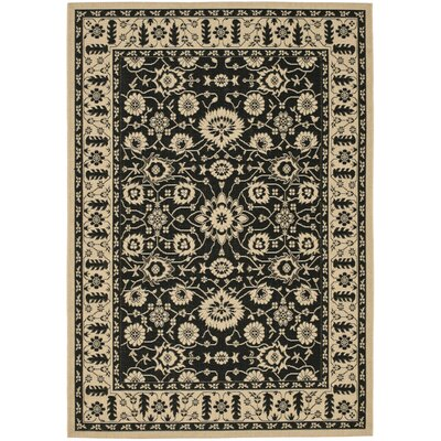 Safavieh Courtyard Creme / Black Rug