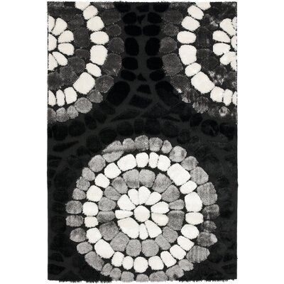 Safavieh Miami Shag Black/Multi Rug