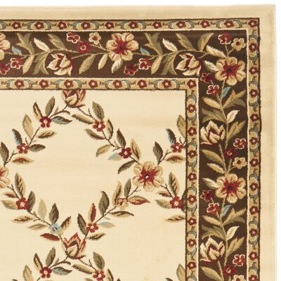 Safavieh Lyndhurst Ivory/Brown Checked Rug