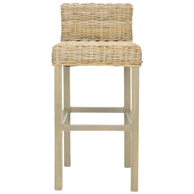 Carissa Bar Stool in Light Oak
