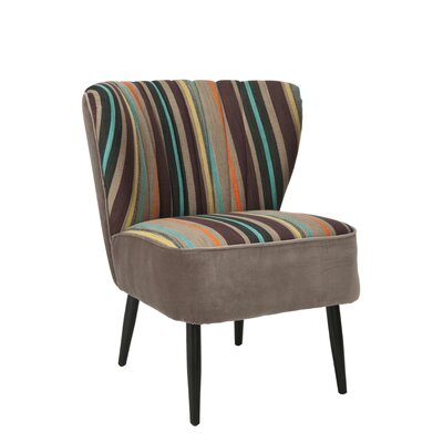 Felicity Striped Fabric Slipper Chair