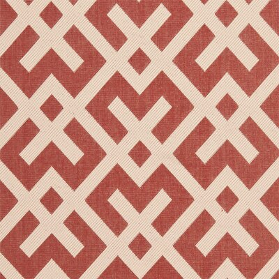 Safavieh Courtyard Red / Bone Outdoor Rug