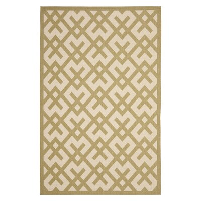 Safavieh Courtyard Beige / Green Outdoor Rug
