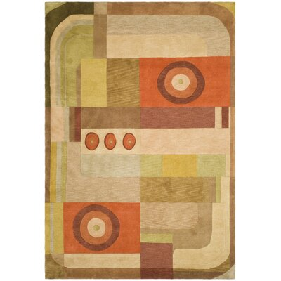 Tibetan Brown Multi Geometric Rug