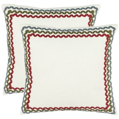 Safavieh Zander Cotton Decorative Pillow (Set of 2)