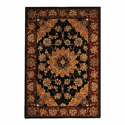<strong>Safavieh</strong> Traditions Black/Burgundy Rug