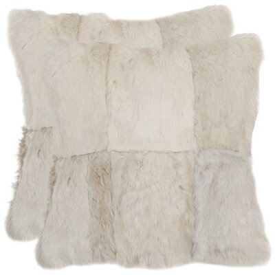 Safavieh Angora Rabbit Fur Decorative Pillow (Set of 2)