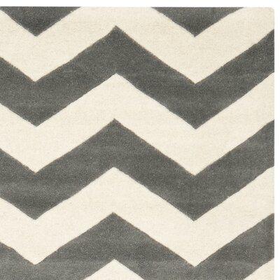 Safavieh Chatham Dark Grey/Ivory Chevron Rug