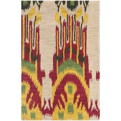 Safavieh Ikat Beige/Yellow Rug