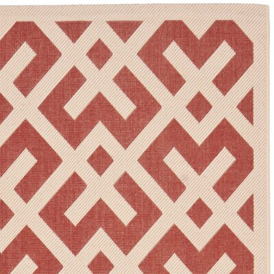Safavieh Courtyard Red / Bone Outdoor Rug