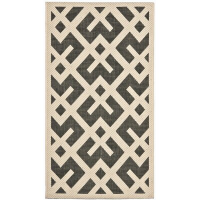 Safavieh Courtyard Black / Beige Rug
