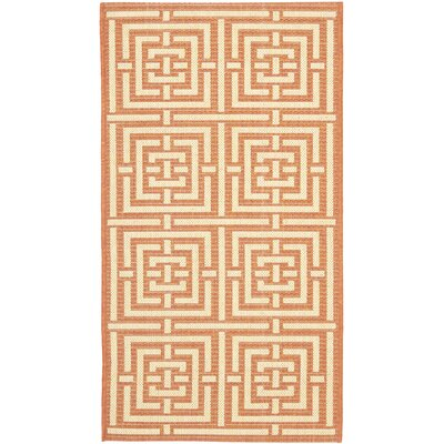 Courtyard Terracotta/Cream Indoor/Outdoor Rug