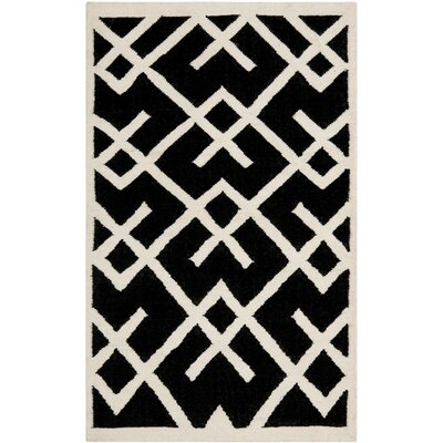 Safavieh Safavieh Dhurries Black/Ivory Rug