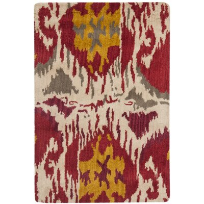 Safavieh Ikat Ivory/Red Rug