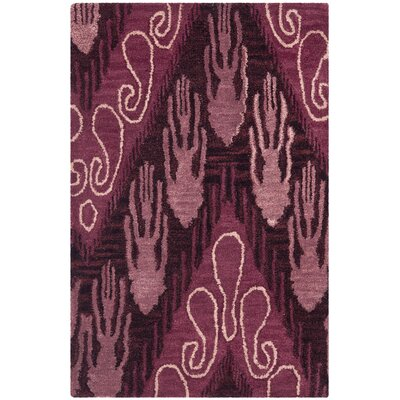Safavieh Ikat Dark Brown and Purple Rug