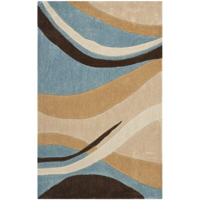 Modern Art Blue/Brown Rug