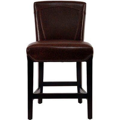 Ken Upholstered Counter Stool in Brown