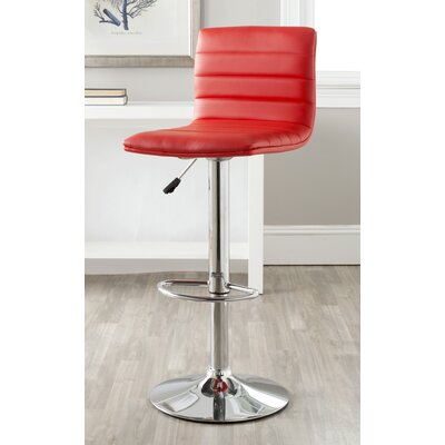 Arissa Adjustable Swivel Bar Stool with Cushion