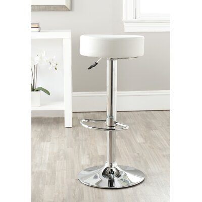 "Safavieh Jude 25.6"" Adjustable Swivel Bar Stool with Cushion"