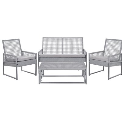 Safavieh Shawmont 4 Piece Deep Seating Group with Cushion