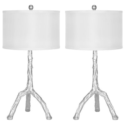 """Safavieh Branch 27.5"""" H Table Lamp with Drum Shade"""