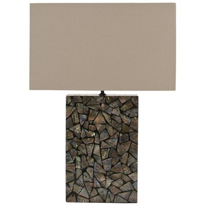 "Safavieh Mosaic Mother of Pearl 16.5"" H Table Lamp with Rectangle Shade"