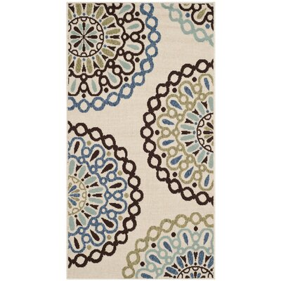 Safavieh Veranda Cream / Blue Rug