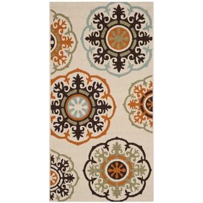 Safavieh Veranda Cream / Terracotta Outdoor Rug