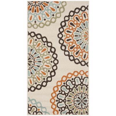 Safavieh Veranda Cream / Terracotta Rug