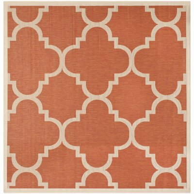 Safavieh Courtyard Terracotta Outdoor Rug