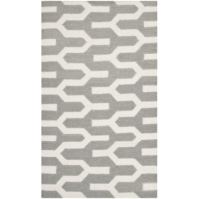 Dhurries Silver / Ivory Rug