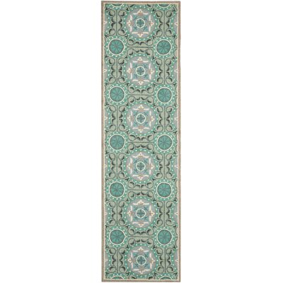 Safavieh Four Seasons Mint / Aqua Outdoor Rug