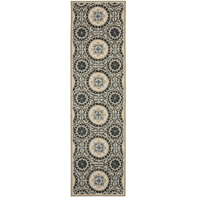 Safavieh Four Seasons Cement / Blue Outdoor Rug