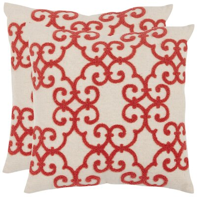 Safavieh Sonya Cotton / Linen Decorative Pillow (Set of 2)