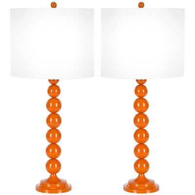 "Safavieh Stacked Ball 31"" H Table Lamp with Drum Shade"