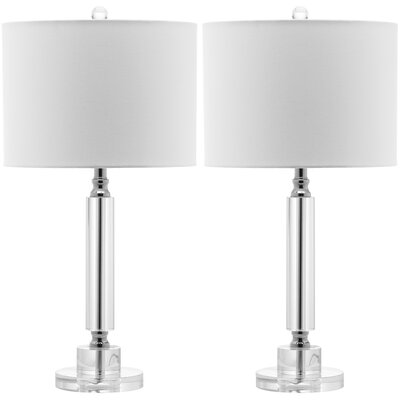 """Safavieh Deco Column 24.5"""" H Table Lamp with Drum Shade"""