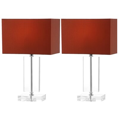 "Safavieh Art Moderne 15.75"" H Table Lamp with Rectangle Shade"