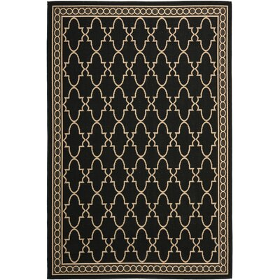 Safavieh Courtyard Black/Sand Checked Rug