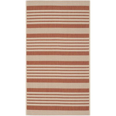 Courtyard Terracotta / Beige Outdoor Rug